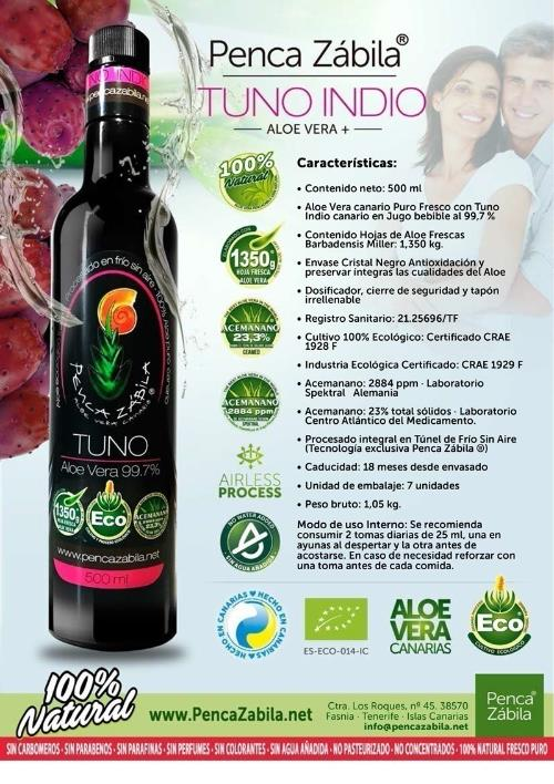 Natural Fresh Aloe Juice + Cactus Penca Zabila 500