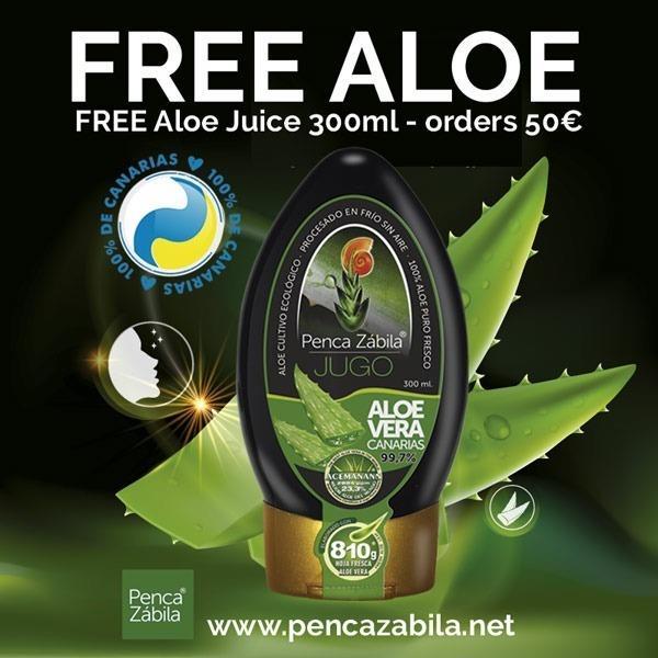 Free Aloe Vera Saft in orders