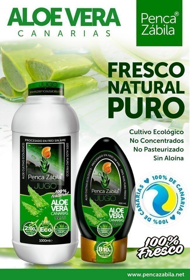 Jugo Fresco Puro Natural de Aloe Vera Penca Zabila